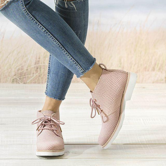 Giovanna Snake Pink Napa Woman Footwear