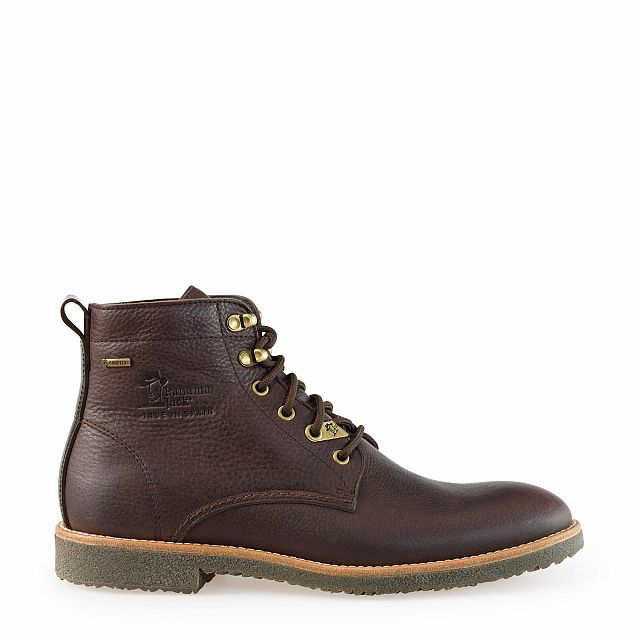 Leather ankle boot in brown with Gore-Tex inner lining
