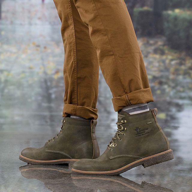 Panama Jack Glasgow Gore-tex Khaki Nobuck Man Footwear