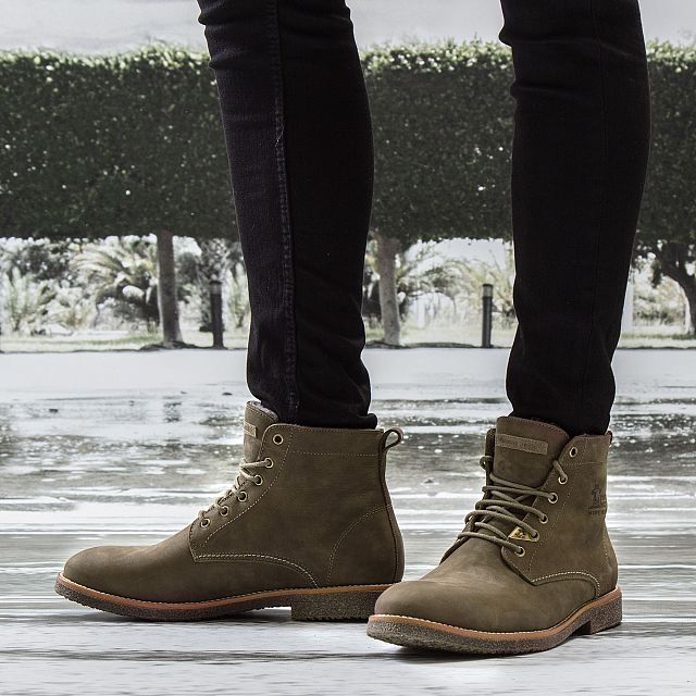 Glasgow Igloo Khaki Nobuck Man Footwear