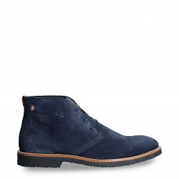 Gunter Navy blue Velour Man Footwear