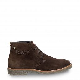 Gunter Brown Velour Man Footwear