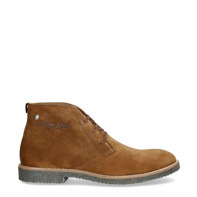 Natural leather ankle boot with a leather lining