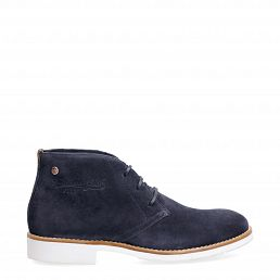 Gunter Navy blue Velour New-in-man-summer