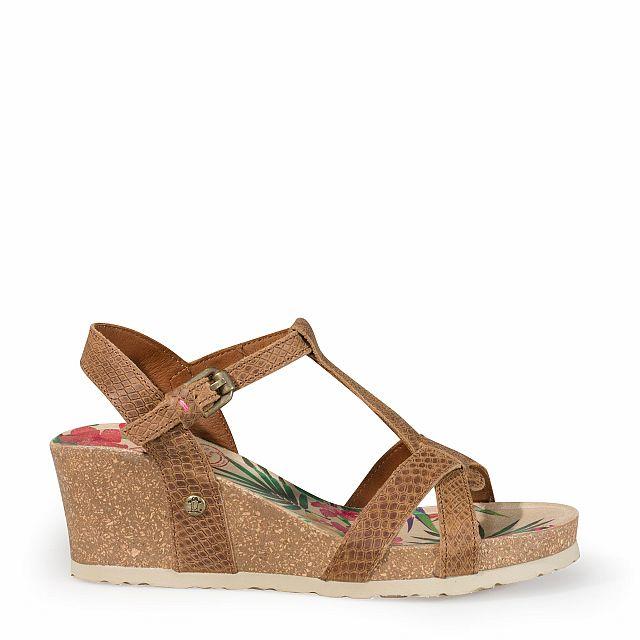 Sandalia de piel vison