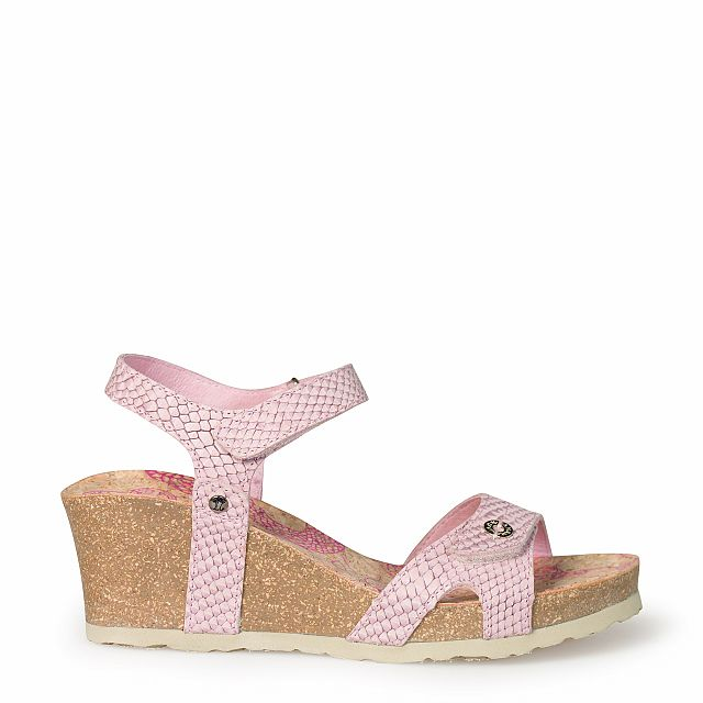 Women's leather sandal in pink