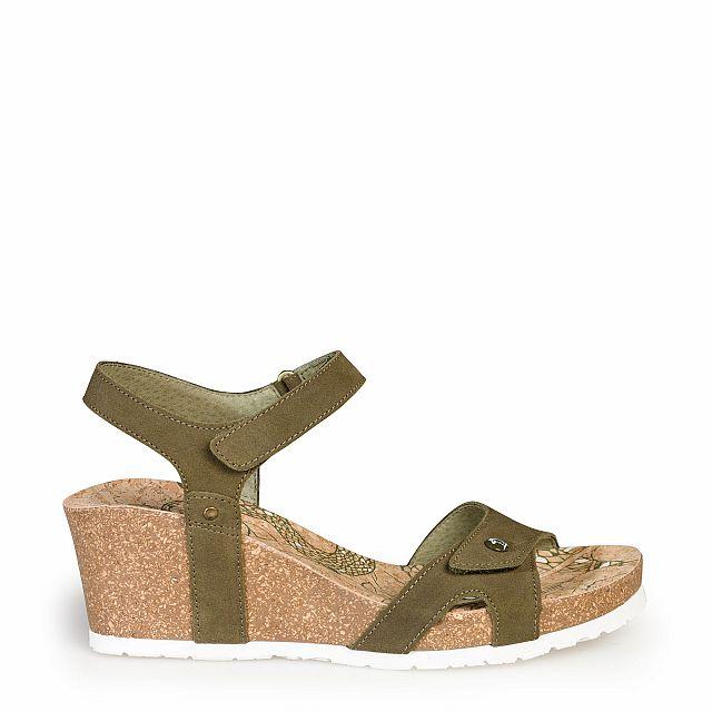Sandalia de piel trufa con forro de piel