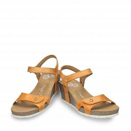 Vintage leather sandals with a leather lining