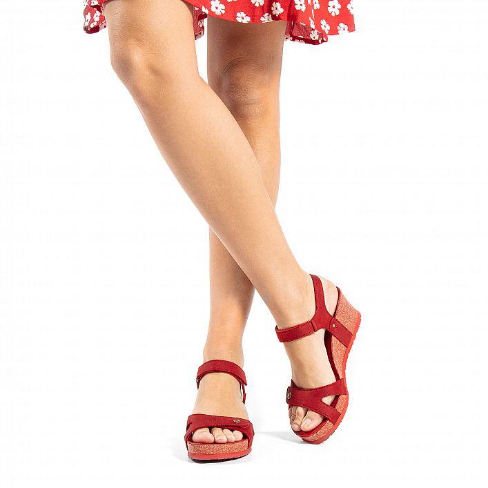 Julia Basics Rojo Nobuck
