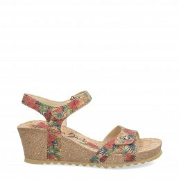 Julia Cork Red Tejido Woman Footwear