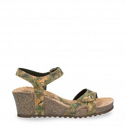 Julia Cork Khaki Tejido Woman Footwear