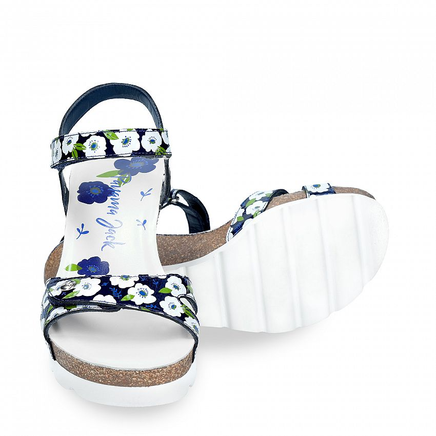 Julia Garden Navy blue Charol