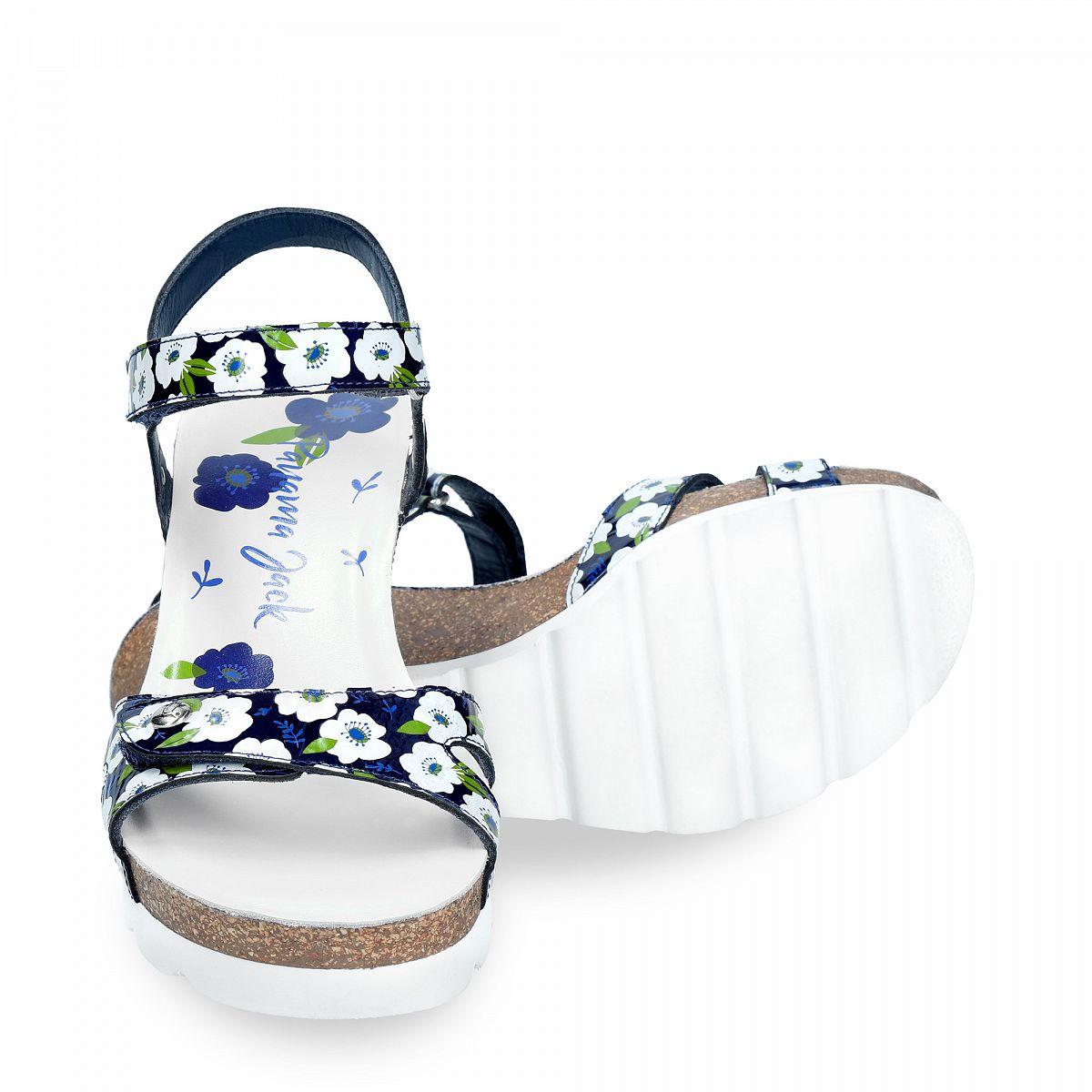 Julia Garden Navy blue Charol
