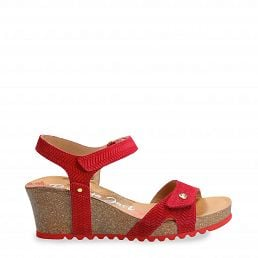 Panama Jack Julia Menorca Red Velour Woman Footwear