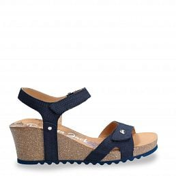 Julia Menorca Navy blue Velour Woman Footwear