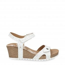 Julia Roses White Napa Woman Footwear