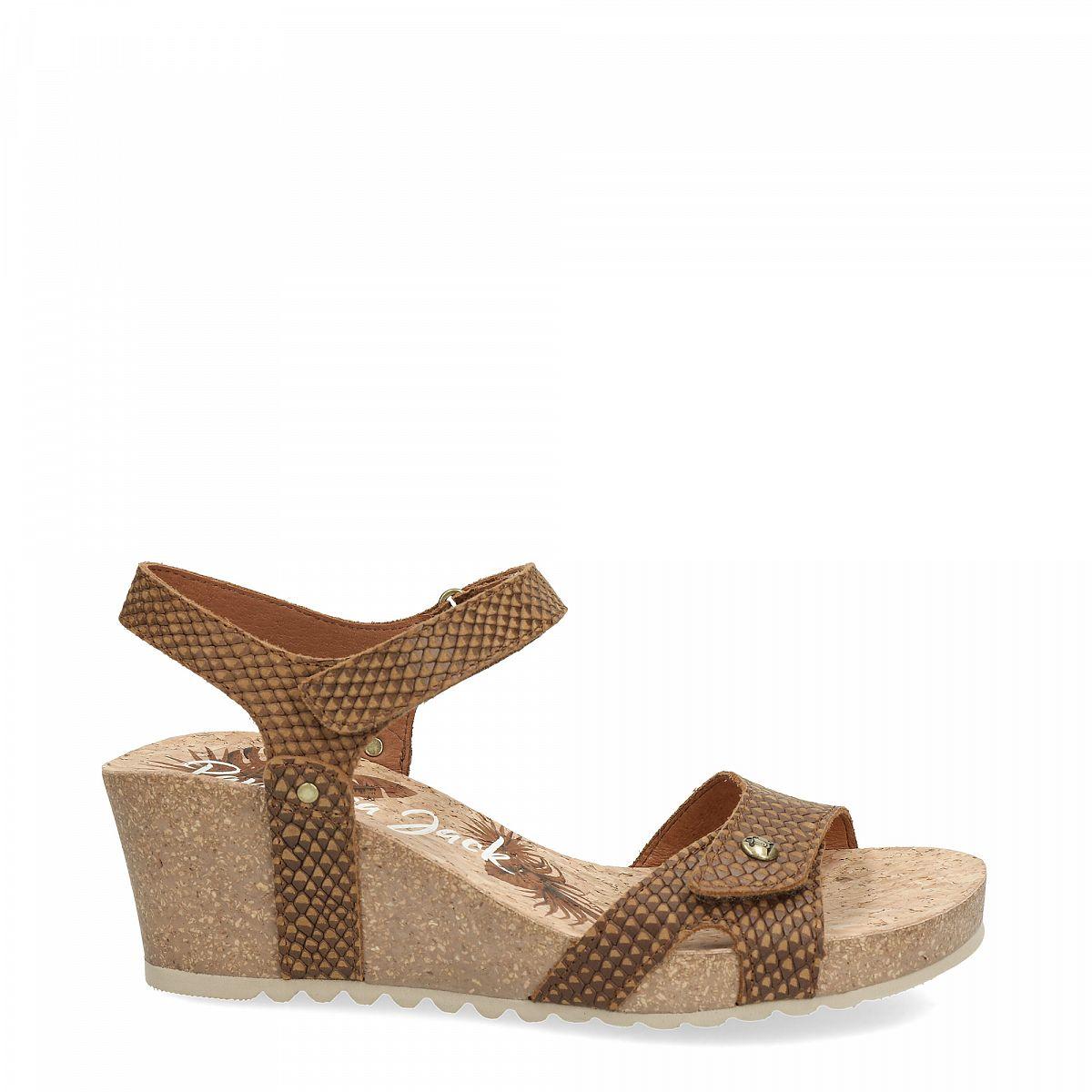 b07f7796164310 Women's sandals JULIA SNAKE bark | PANAMA JACK®