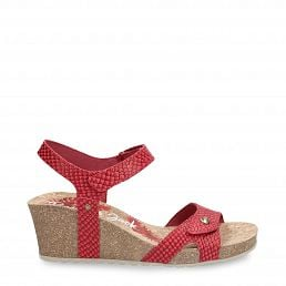 Panama Jack Julia Snake Red Napa Woman Footwear