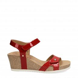 Julia Snake Charol Red Charol Woman Footwear