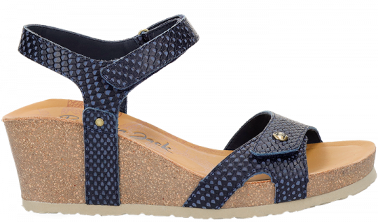 Julia Snake Shine Navy blue Napa