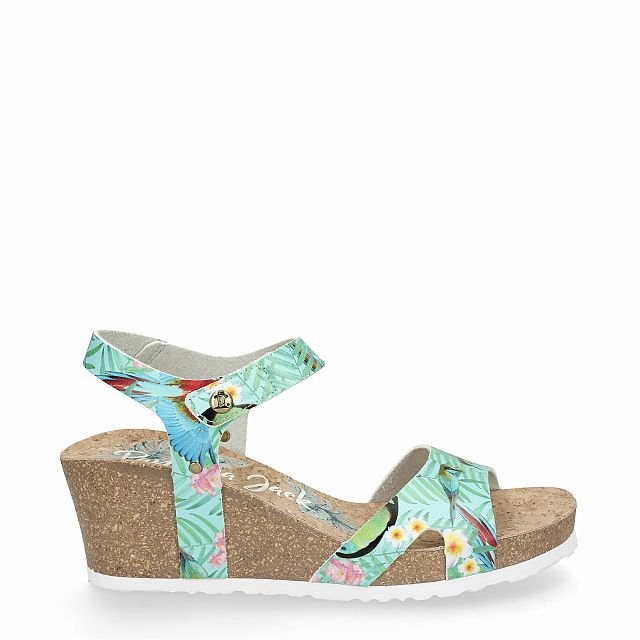 Sky blue leather sandal