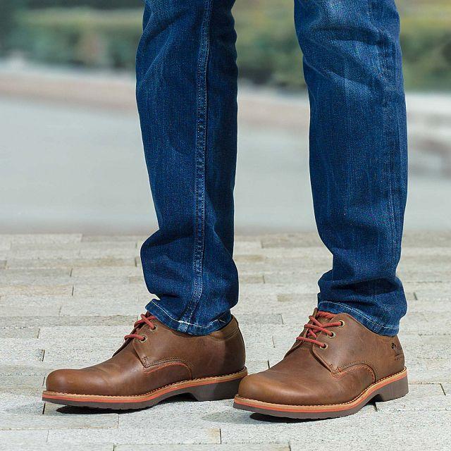 Zapato de piel cuero con forro de piel