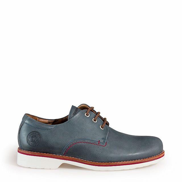 Zapato de piel blue jeans con forro de piel
