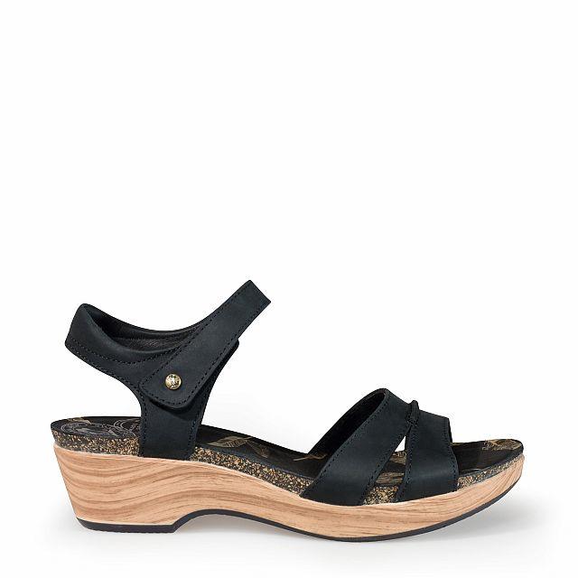Sandalia de piel negro