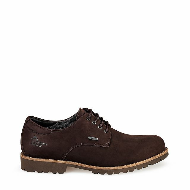 Leather shoes in brown with goretex inner lining