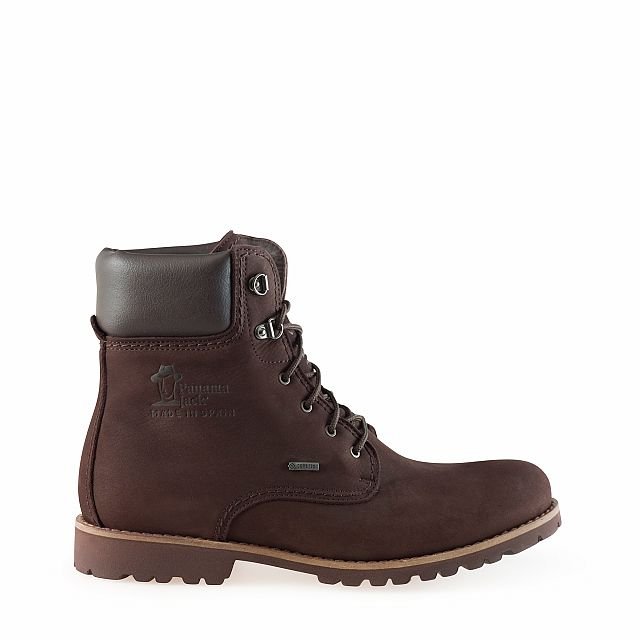 Leather boots in brown with goretex inner lining