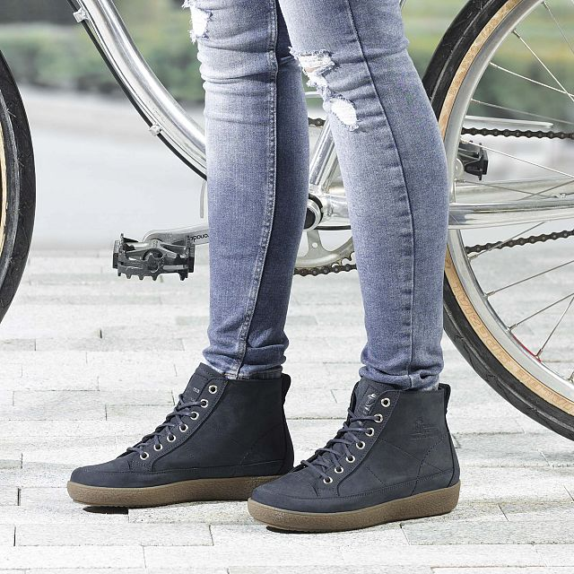 Mabel Marine blauw Nubuck Winter-preview-woman