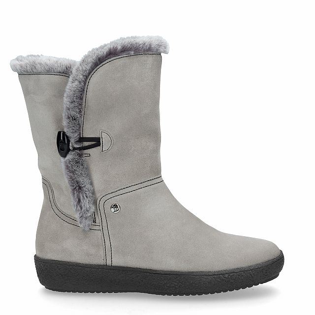 Margherite Gris Velour Mujer