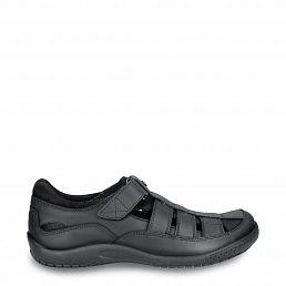 Panama Jack Meridian Basics Black Napa Grass Man Footwear