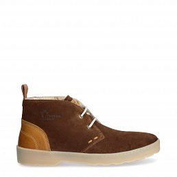 Michel Cognac Velour New-in-herren-sommer