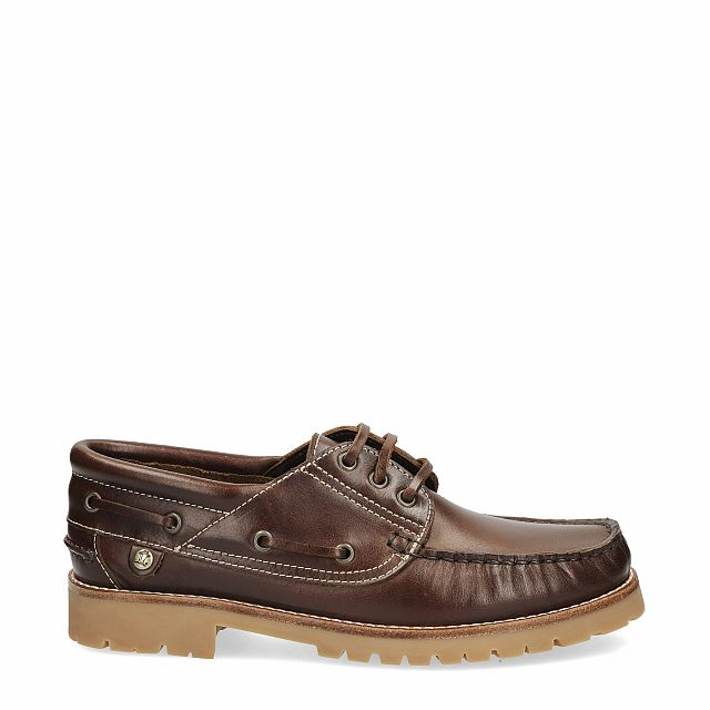 Tan leather dock shoes