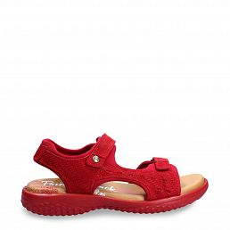 Nilo Menorca Red Velour Woman Footwear