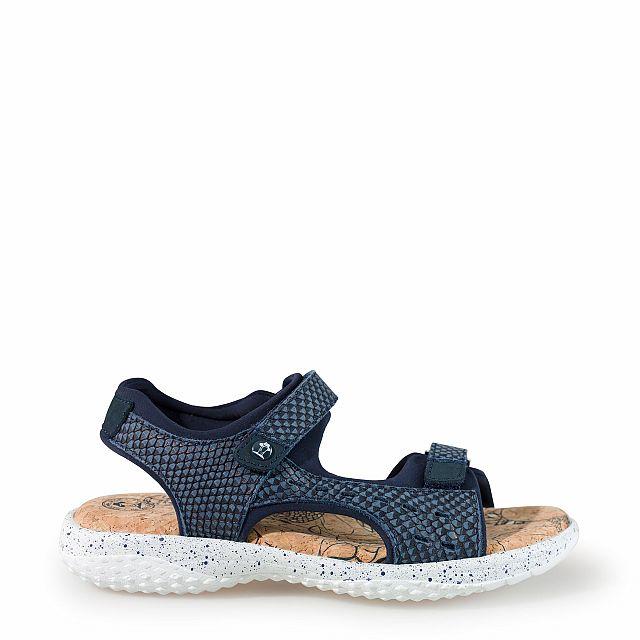 Sandalia de piel marino con forro de lycra
