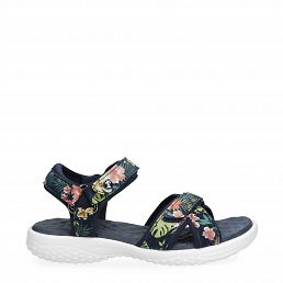 Noja Tropical Navy blue Velour Woman Footwear