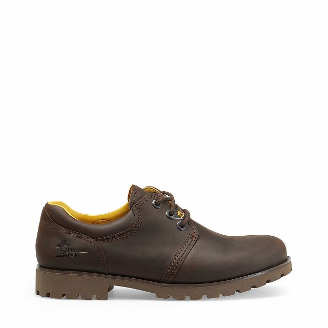 Leather shoes in brown with leather inner lining