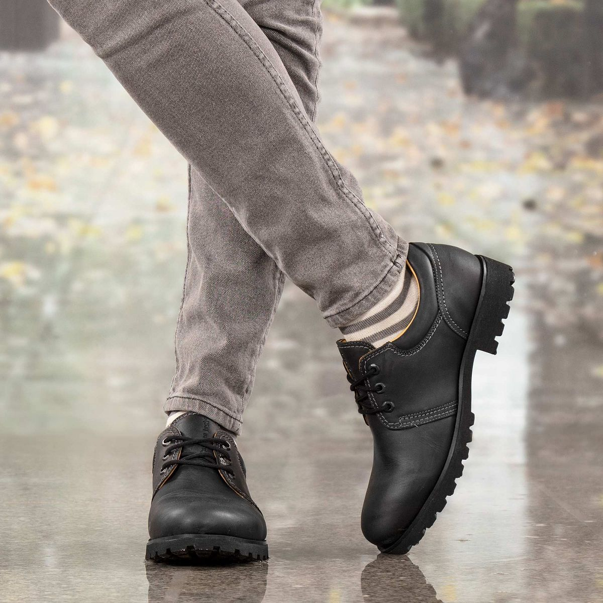Zapato de piel negro con forro de piel 14c284d0514c9