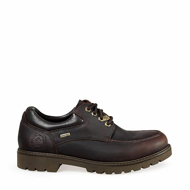 Leather shoes in brown with Gore-Tex inner lining