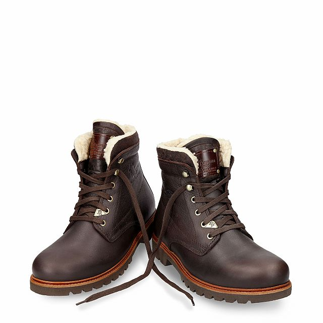 Boots in brown with cotton lining