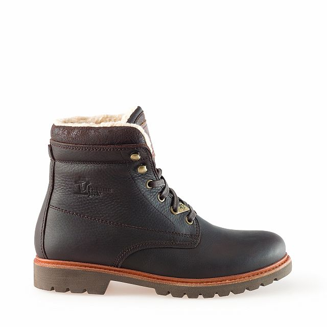 Leather boots in brown with cotton inner lining