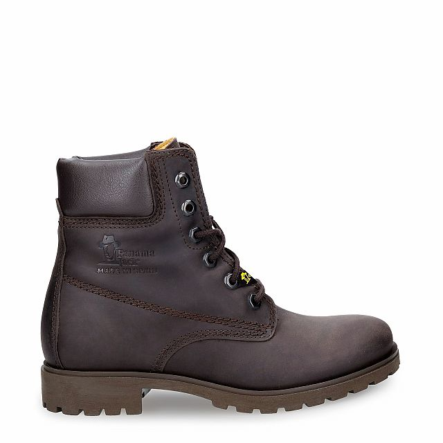 Leather boots in brown with leather inner lining