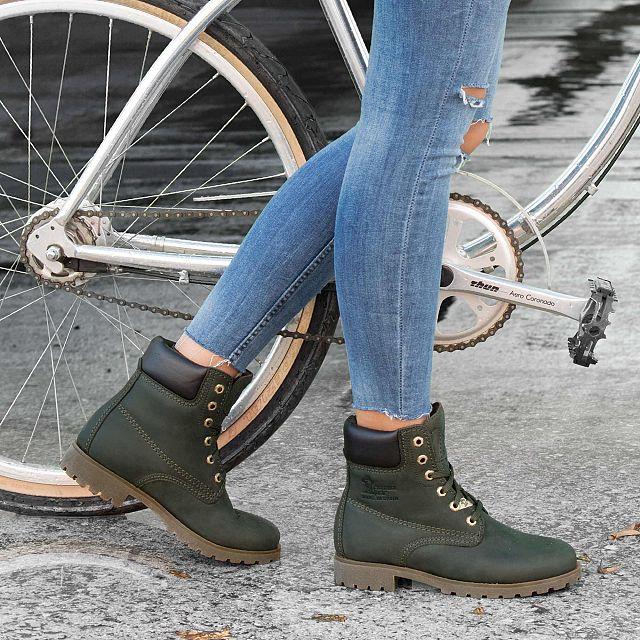 Panama Jack Panama 03 Green Nobuck Woman Footwear-1