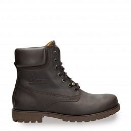 Lace-up boots in brown with leather lining