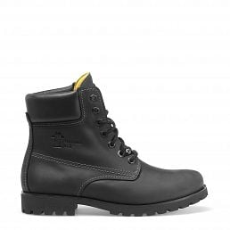 Lace-up boots in black with leather lining
