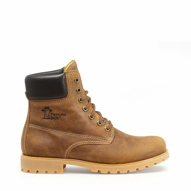 Leather boots in honey colour with leather inner lining