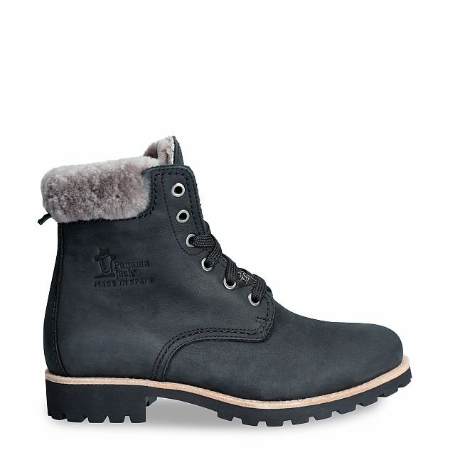 Panama 03 Igloo Black Nobuck Woman Footwear