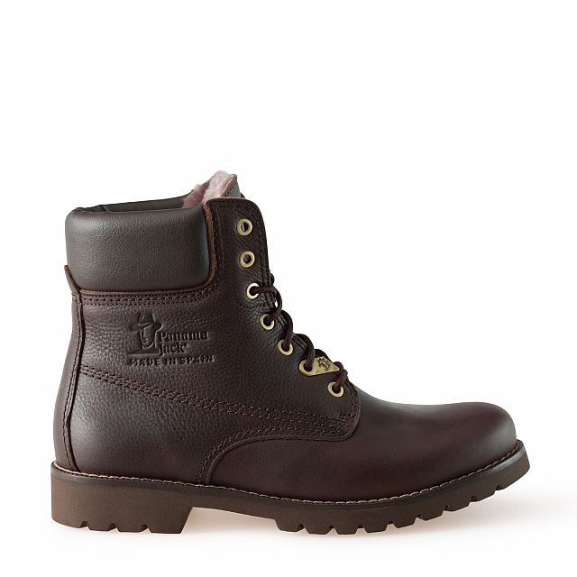 Leather boots in brown with sheepskin inner lining